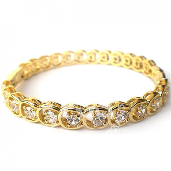 Golden Bangle Studded with Sparking Stones