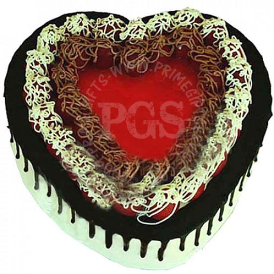 Pc Hotel Heart Shape Italian Black Forest Cake - 2Lbs