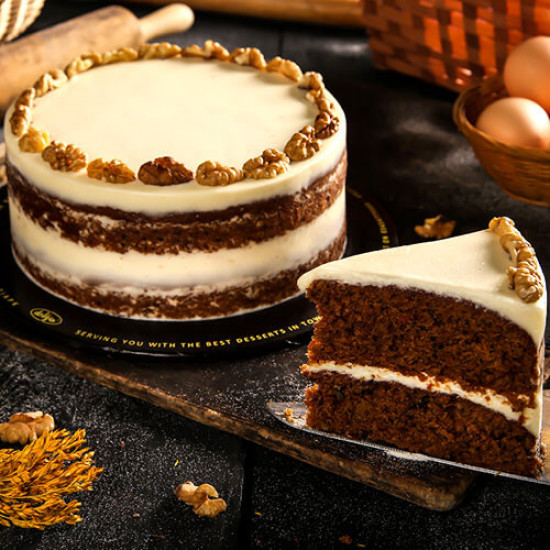 2lbs Carrot Nut Cake from Delizia
