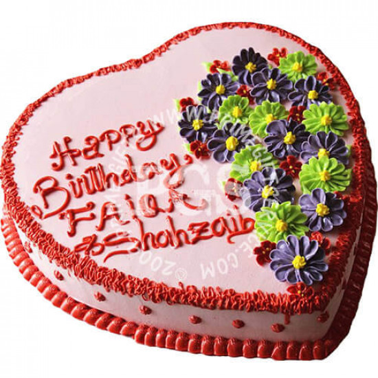 Kitchen Cuisine Birthday Heart Cake 4Lbs