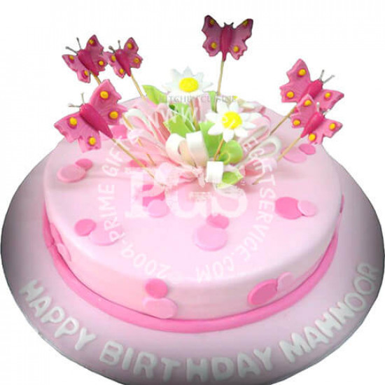 Kitchen Cuisine Pink Butterfly Cake 3Lbs
