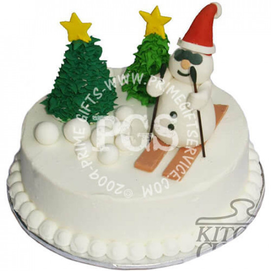 Kitchen Cuisine Snow Man Christmas Cakes 4Lbs