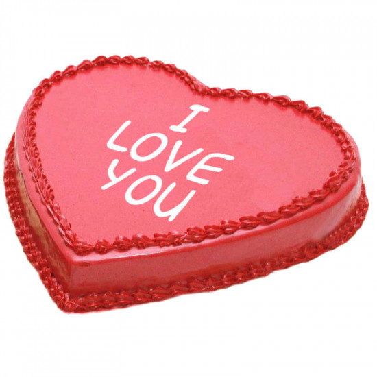PC Hotel Red Heart Shape Cake - 2Lbs