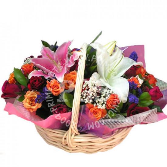 Rainbow Flower Basket