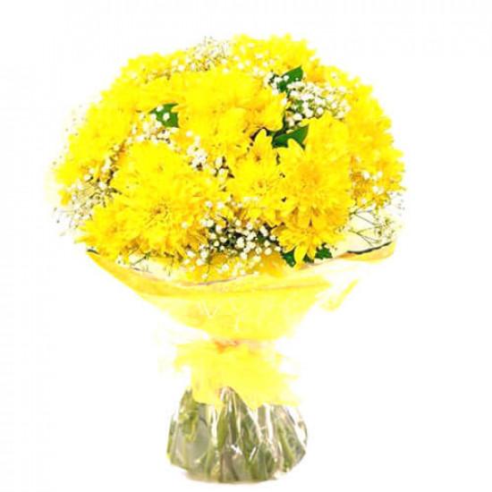 Sweet Yellow Flowers Bouquet