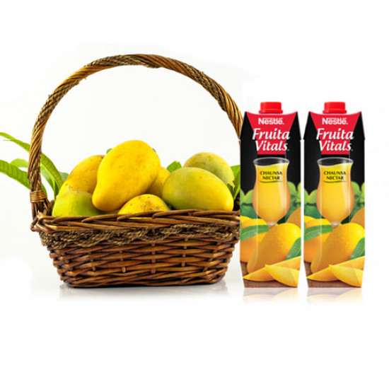 5Kg Mango Basket with mango juice Juice