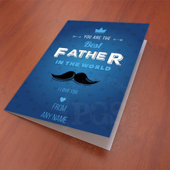 Card for the Best Father in the World