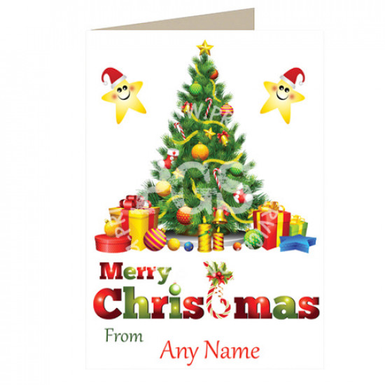 Christmas Tree Personalised Card