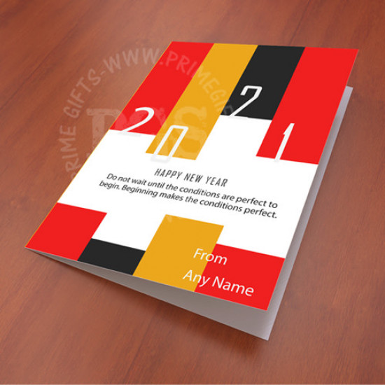 Personalised New Year Color stripes Card