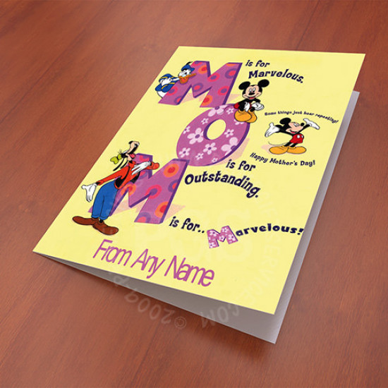 Mother Day Disney Card