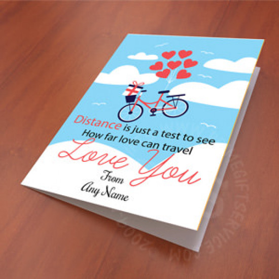 Distance Love Personalised Card