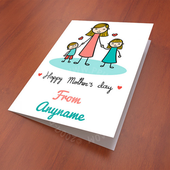 Cute Drawing Mother Day Card
