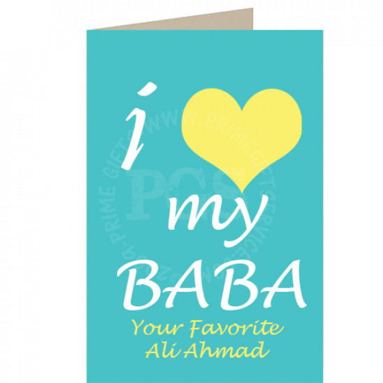 I Love my Baba Personlised Card