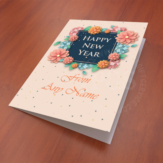 New year Personalised Floral Card