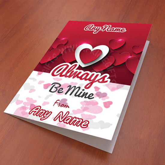 Personalised Be Mine Card