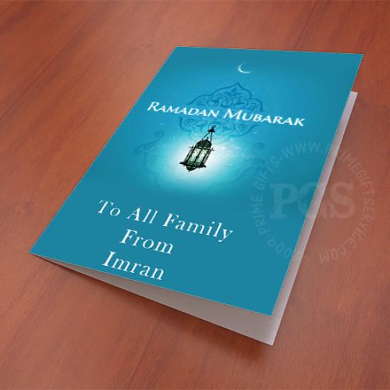Ramadan Mubarak Personlised Card