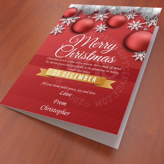 Red Poster Card for Christmas