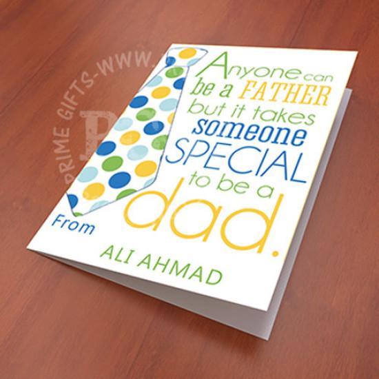 Special Dad Personlised Card