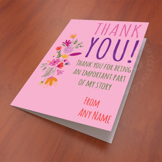 Thank You For Being Important Personalised Card