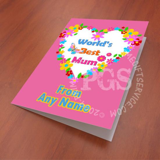 Worlds Best Mum Card