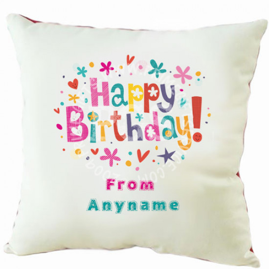 Happy Birthday Personalised Cushion
