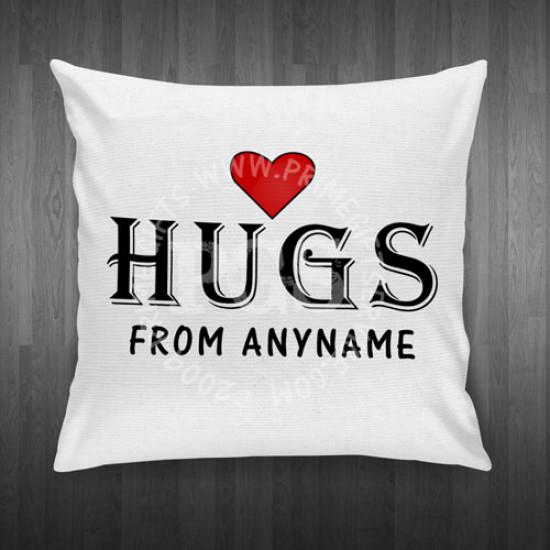 Hugs Personalised Cushion