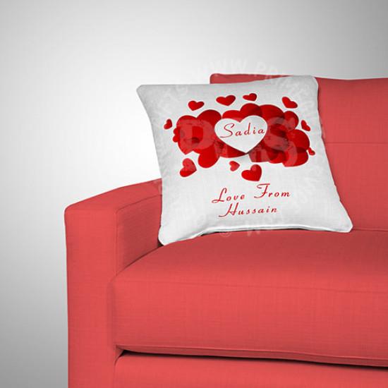 Red Heart  Valentine Cushion