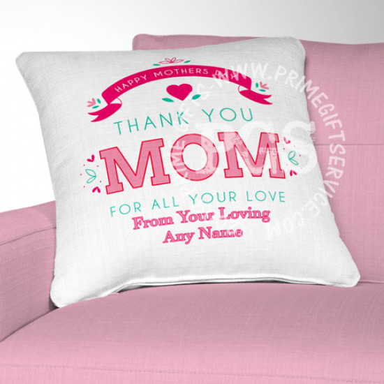 Thank You Mom Personalised Cushion