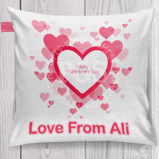 Valentine Pink Heart Cushion