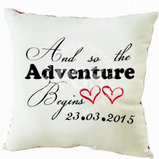 Adventure Wedding Cushion