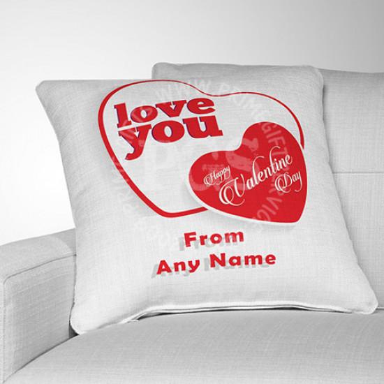 Double Heart  Valentine Cushion