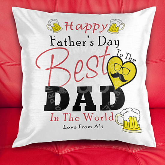 Happy Father's Day Personlised Cushion