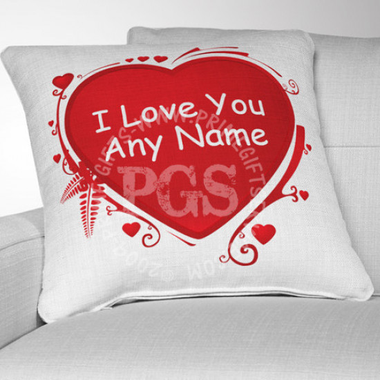I Love You Name Cushion