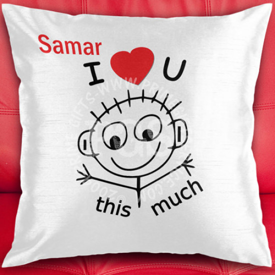 I Love You This Much Personalised Cushion