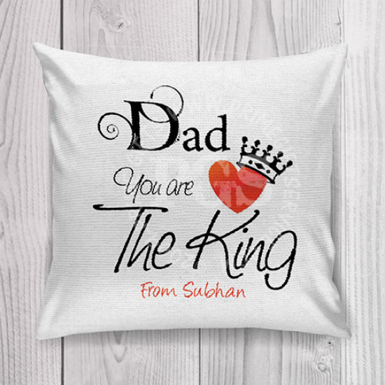 King Dad Personlised Cushion