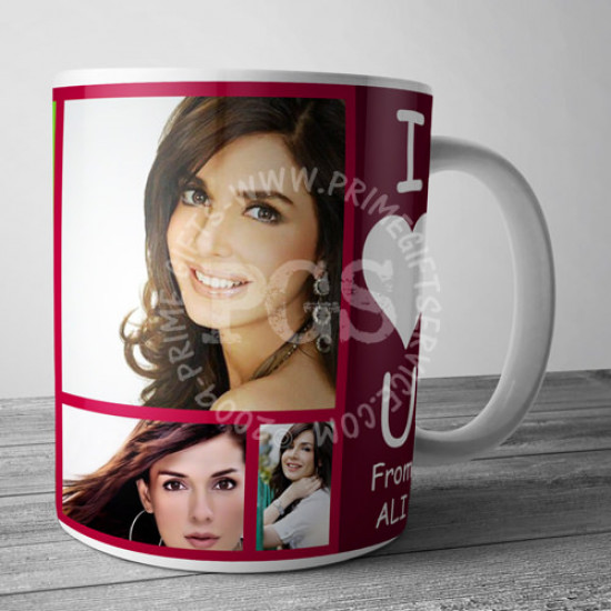 Personalise Picture Collage Mug