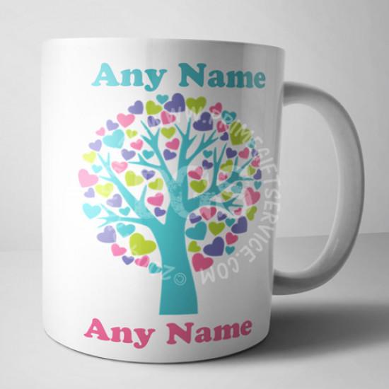 Love Tree Personalised Mug