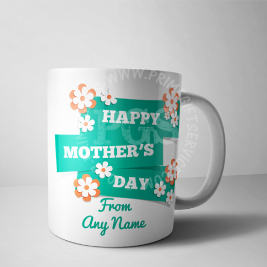 Mothers Day Personalised Floral Mug