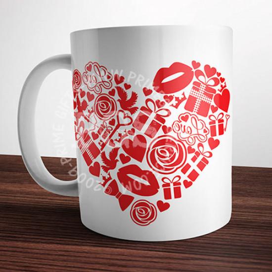 Valentine Day Gifts Heart Mug