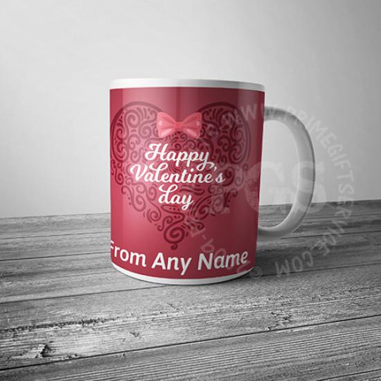 Heart Art Valentines Day Mug