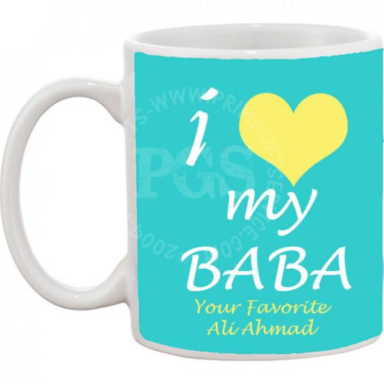 I Love my Baba Personlised Mug
