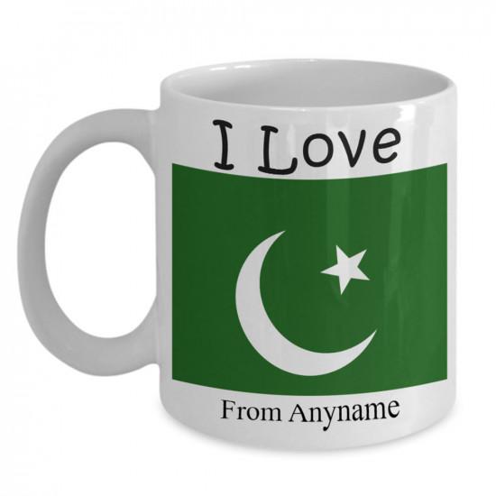 I Love Pakistan Personalized Mug