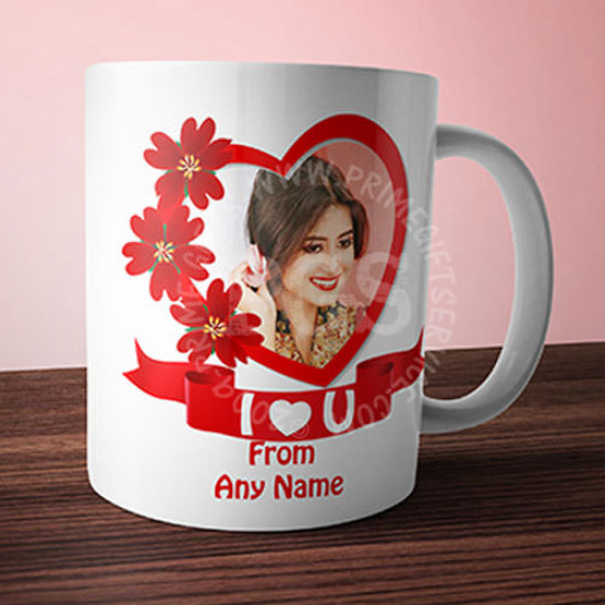 I Love You Personlised Picture Mug