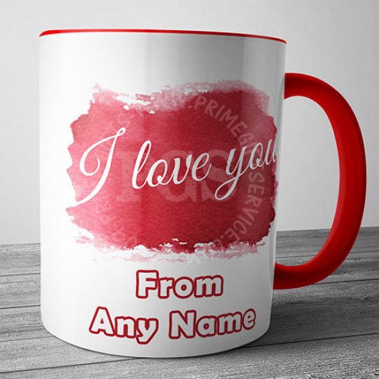I Love You Red Mug