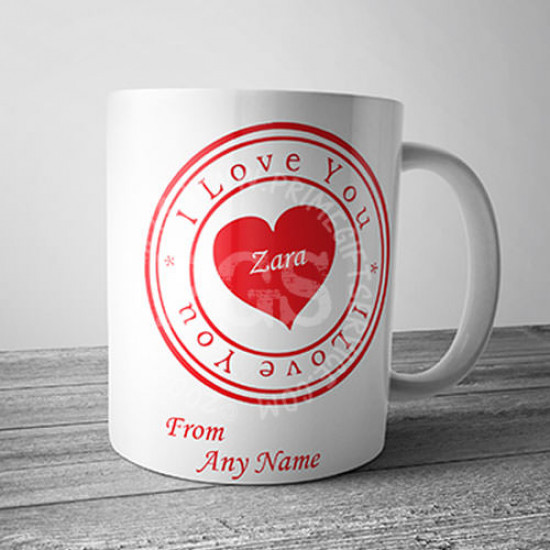 I Love You Stamp Mug