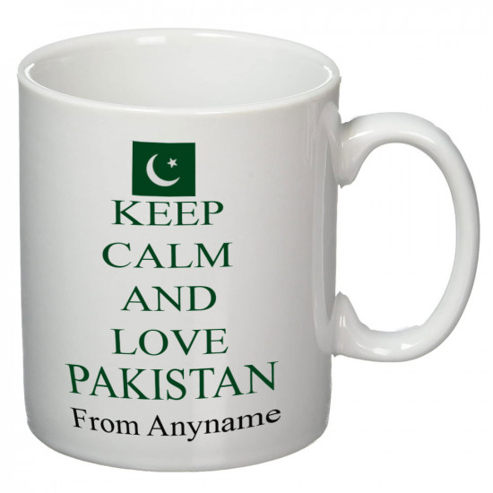 Keep Calm and Love Pakistan Personalized Mug