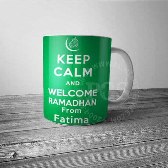 Keep Calm Ramadan Personlised Mug