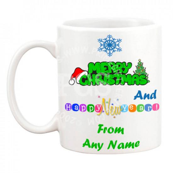 Merry Christmas and Happy New Year Mug