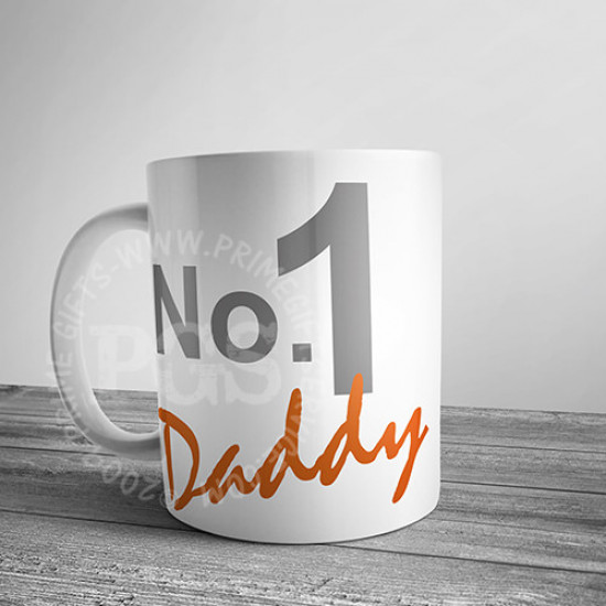 No. 1 Daddy Personlised Mug