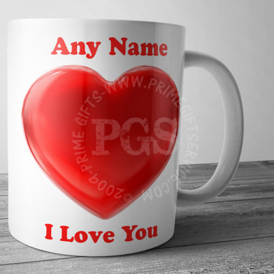 Personlised I Love you Mug
